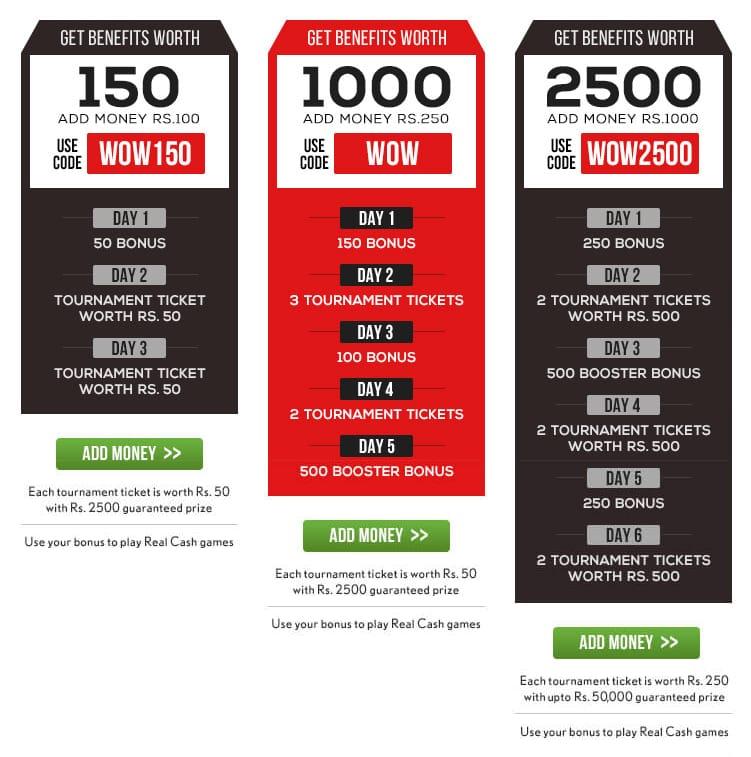 Adda52 Poker Bonuses